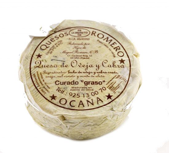 Queso Puro de Aceite Romero-Ocaa . Pieza Grande  Aprox 3,1 Kg.
