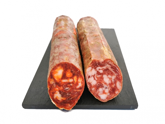 Vela Ibérica 1/2 Chorizo + 1/2 Salchichón. Aprox. 500 gr.